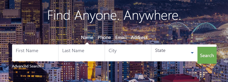 peoplefinders homepage